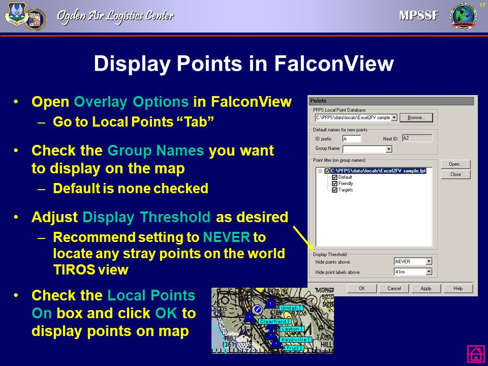 Display Points in FalconView