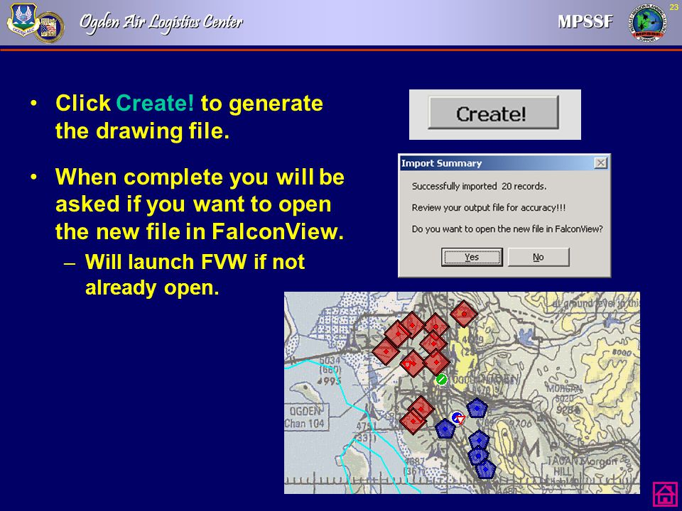 Click Create! to generate the drawing file.
