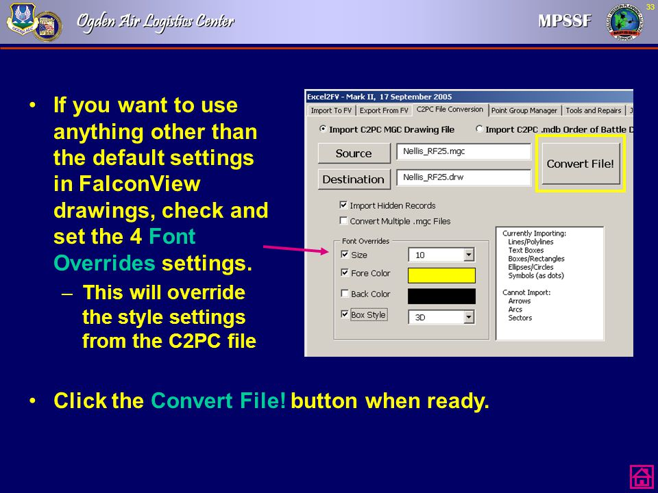 Click the Convert File! button when ready.