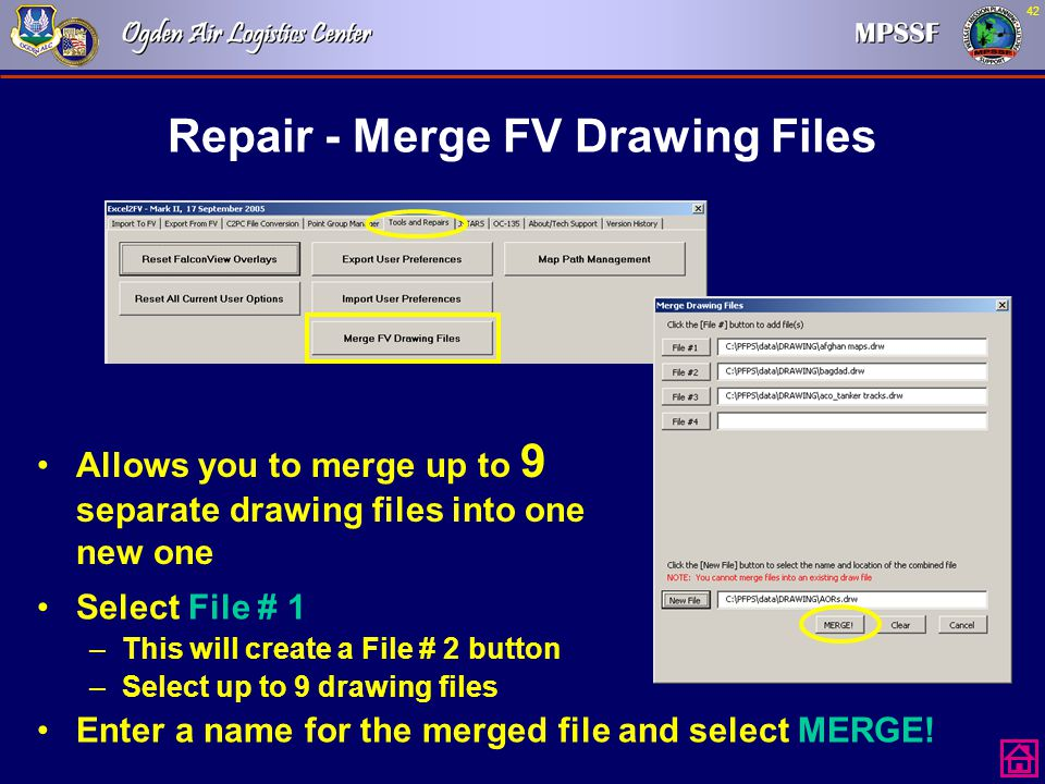Repair - Merge FV Drawing Files