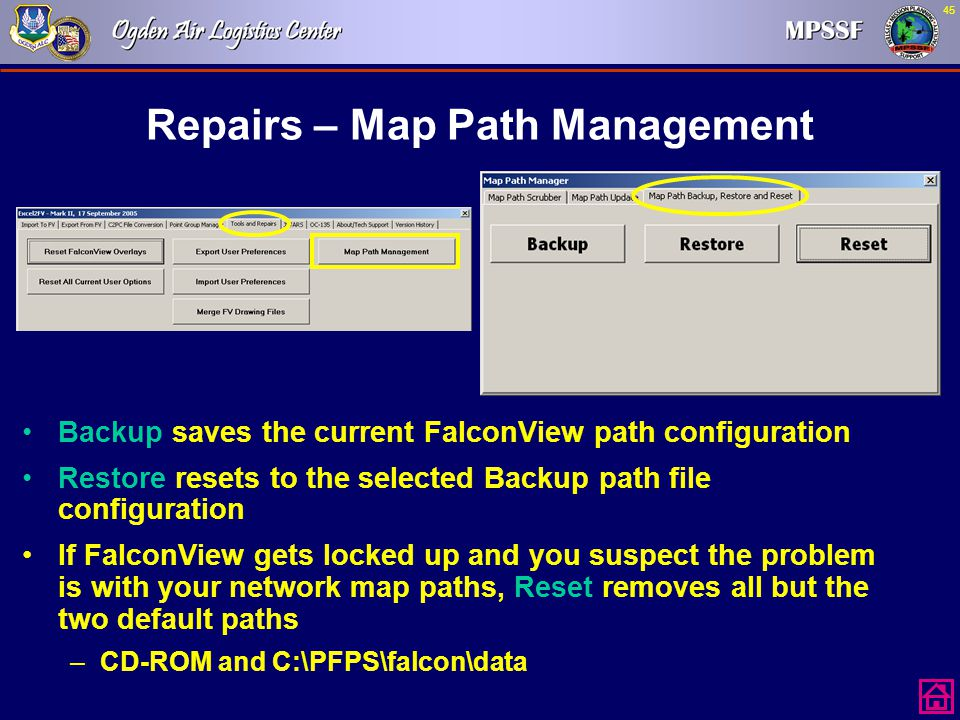 Repairs – Map Path Management
