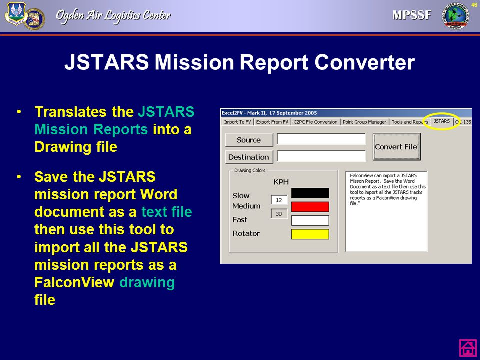 JSTARS Mission Report Converter