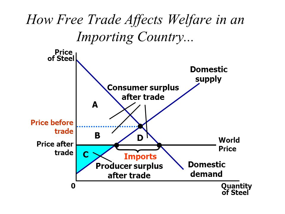 How Free Trade Affects Welfare in an Importing Country...