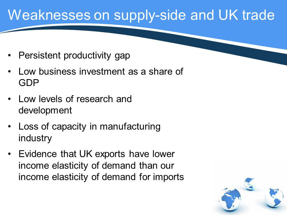Weaknesses on supply-side and UK trade
