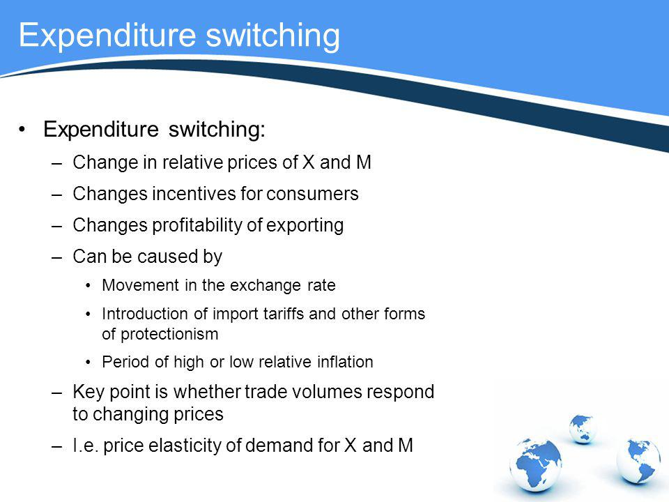Expenditure switching