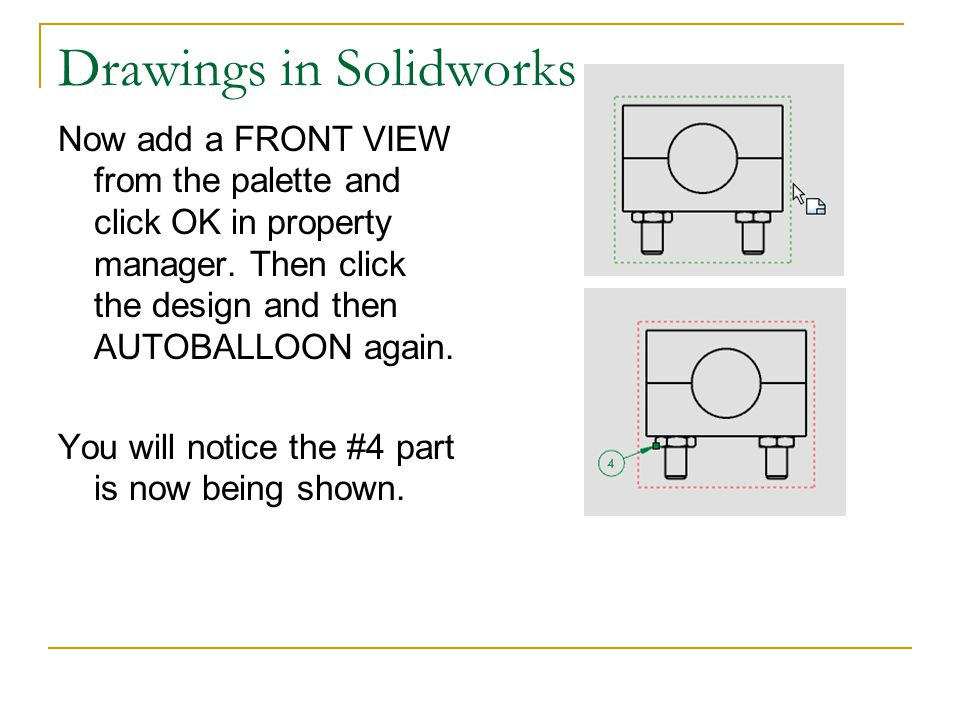Drawings in Solidworks