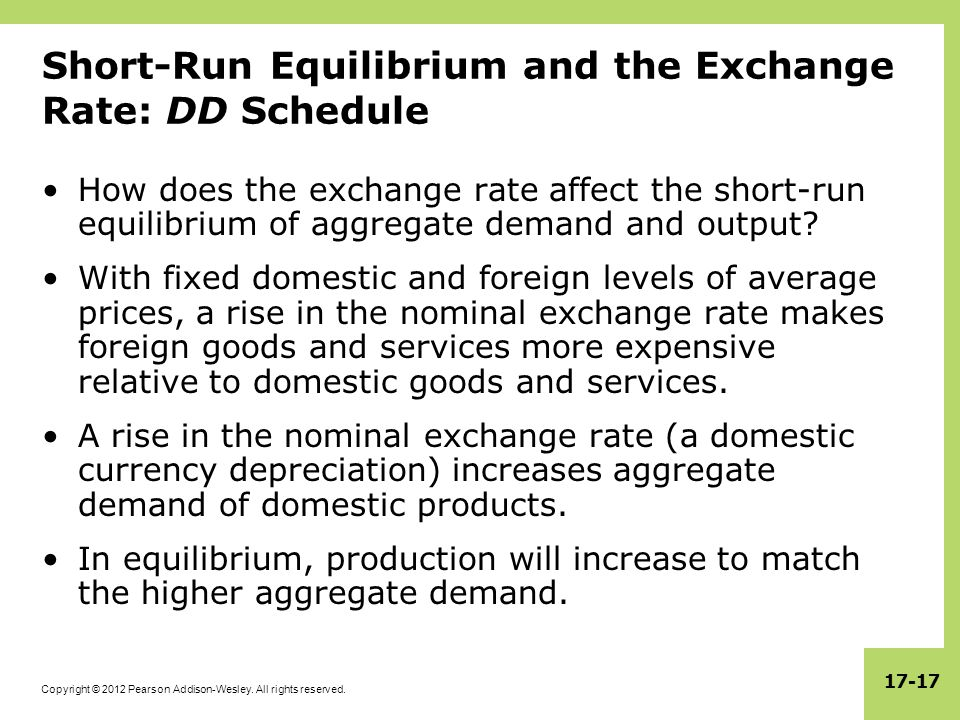Short-Run Equilibrium and the Exchange Rate: DD Schedule