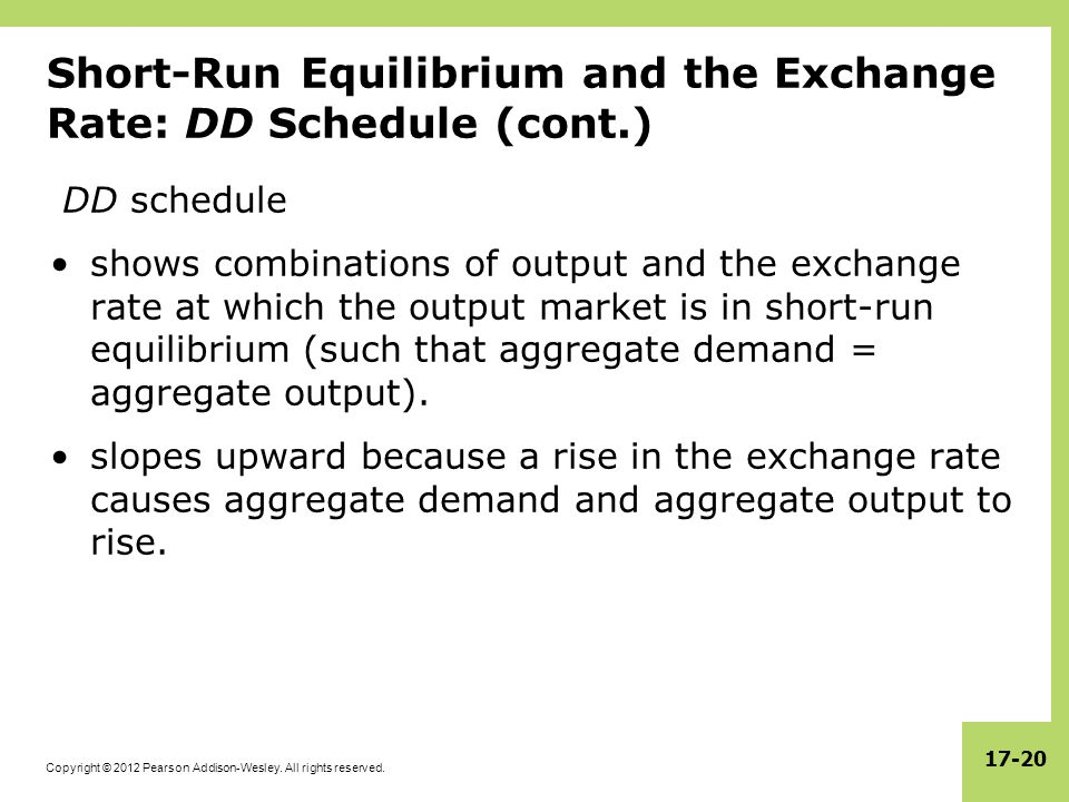 Short-Run Equilibrium and the Exchange Rate: DD Schedule (cont.)