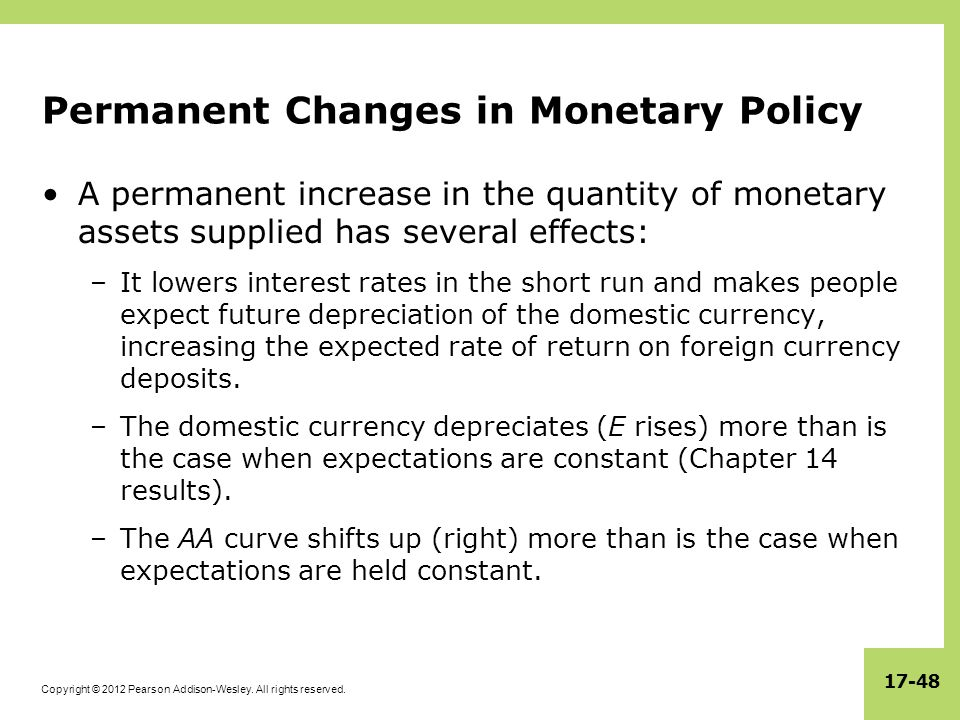 Permanent Changes in Monetary Policy