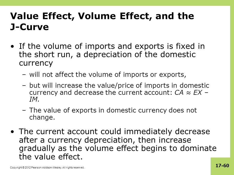 Value Effect, Volume Effect, and the J-Curve