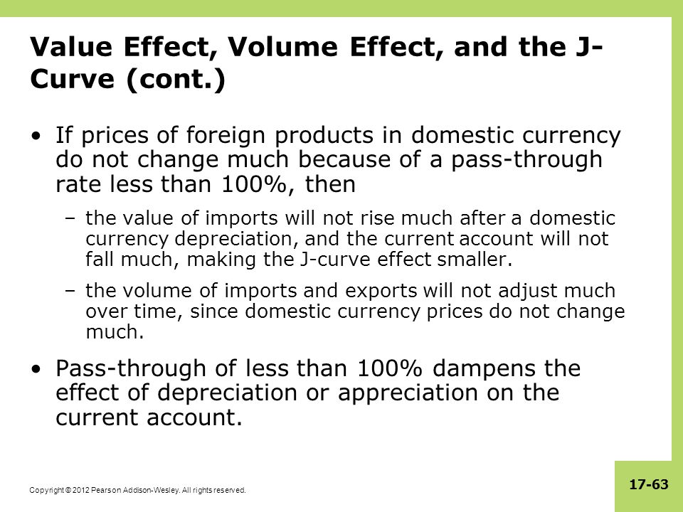 Value Effect, Volume Effect, and the J-Curve (cont.)