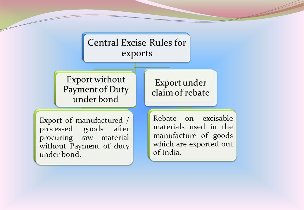 Central Excise Rules for exports
