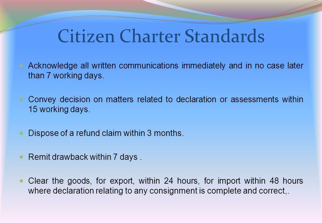 Citizen Charter Standards