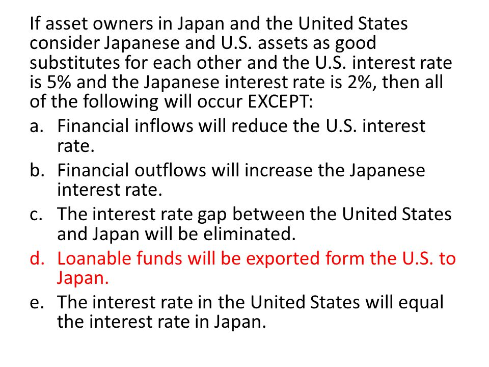If asset owners in Japan and the United States consider Japanese and U