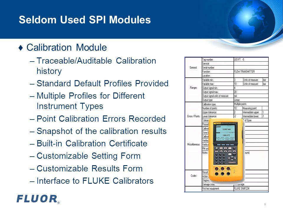Seldom Used SPI Modules