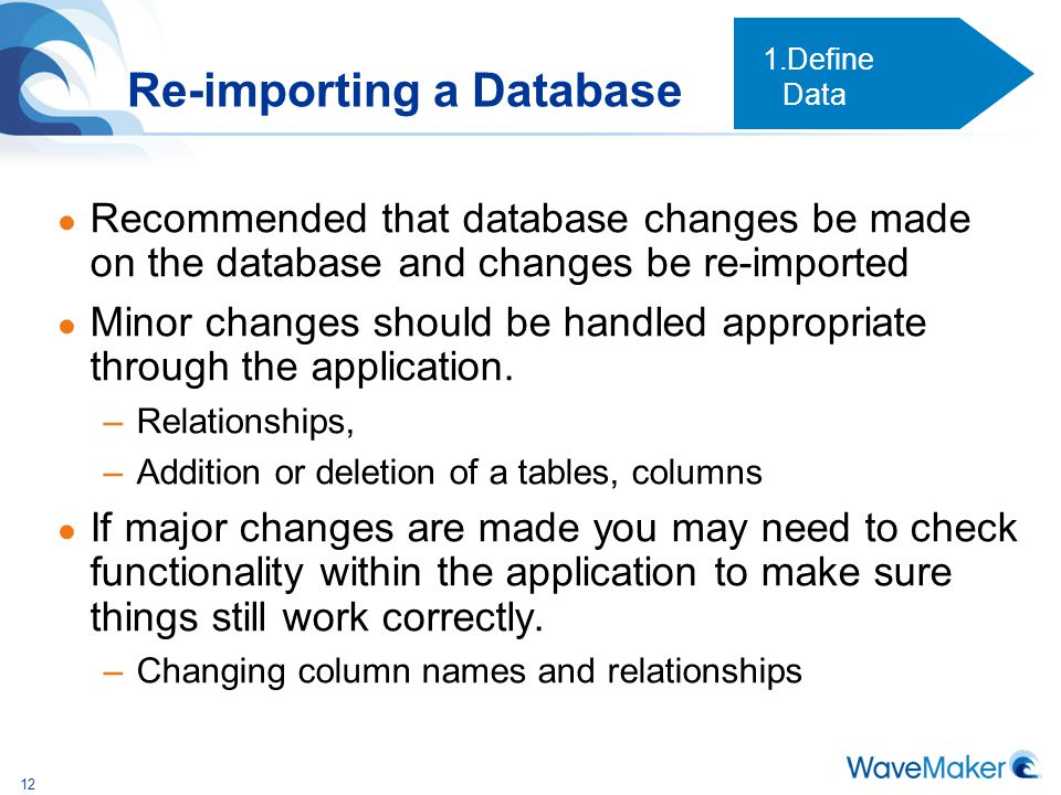 Re-importing a Database