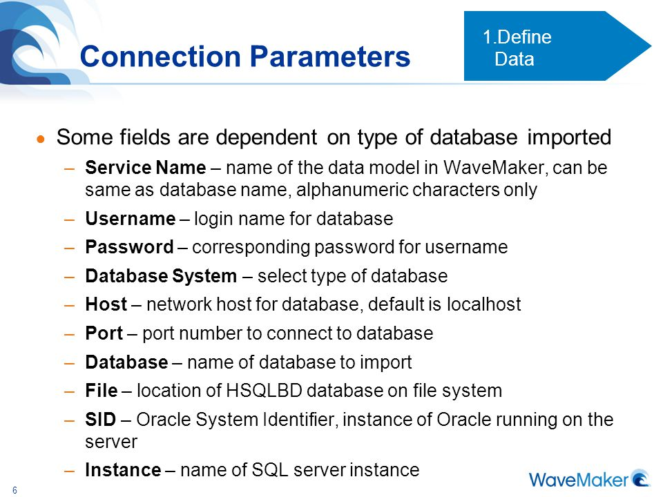 Connection Parameters