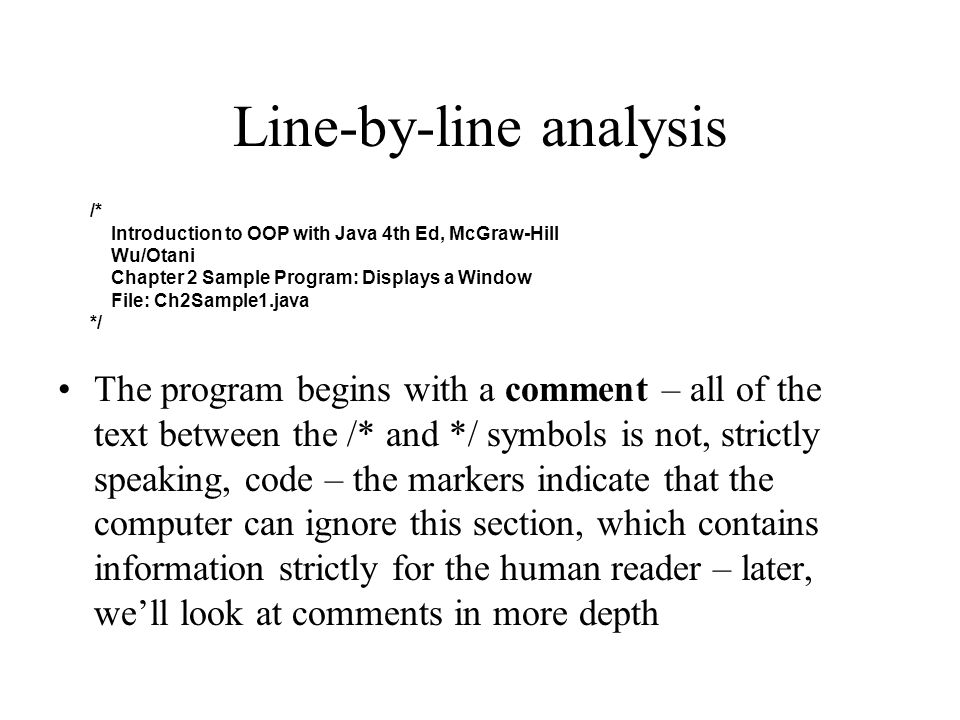 Line-by-line analysis