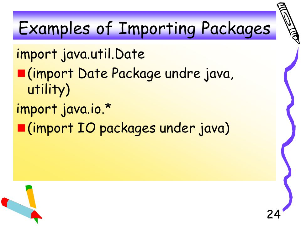 Examples of Importing Packages