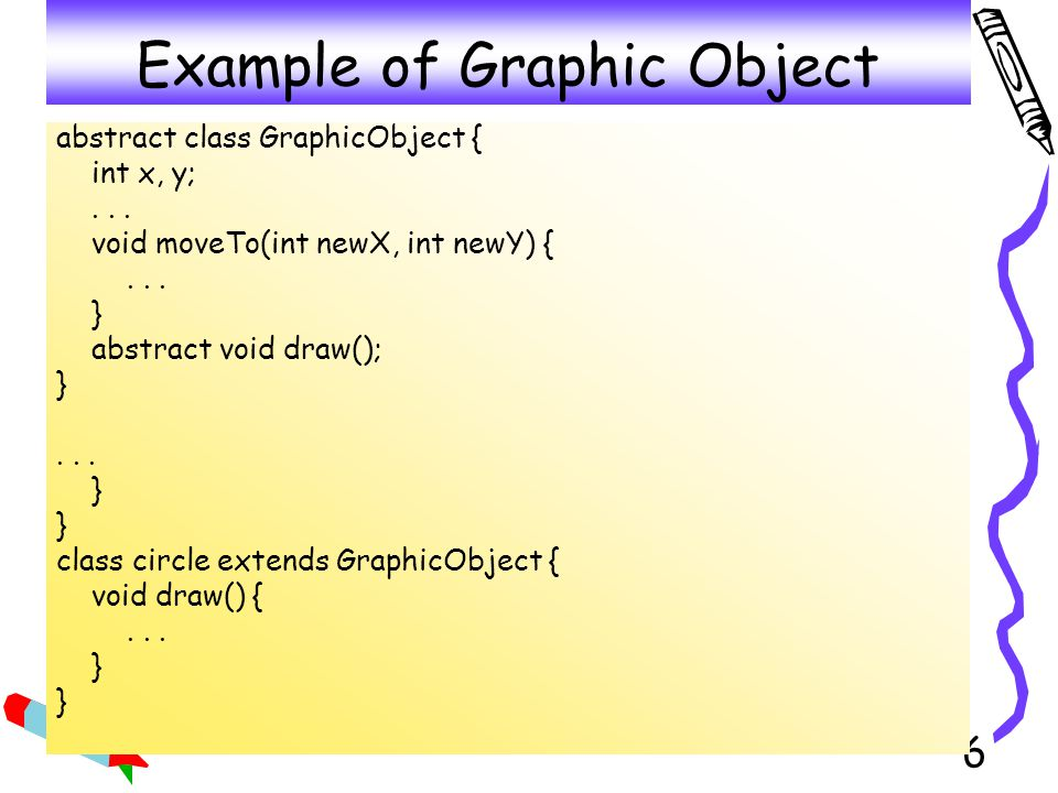 Example of Graphic Object