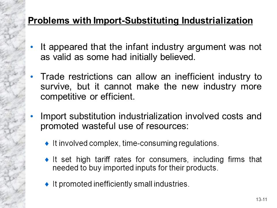 Problems with Import-Substituting Industrialization
