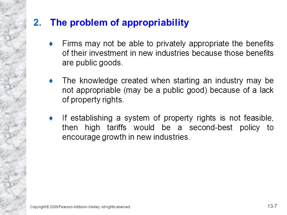 The problem of appropriability