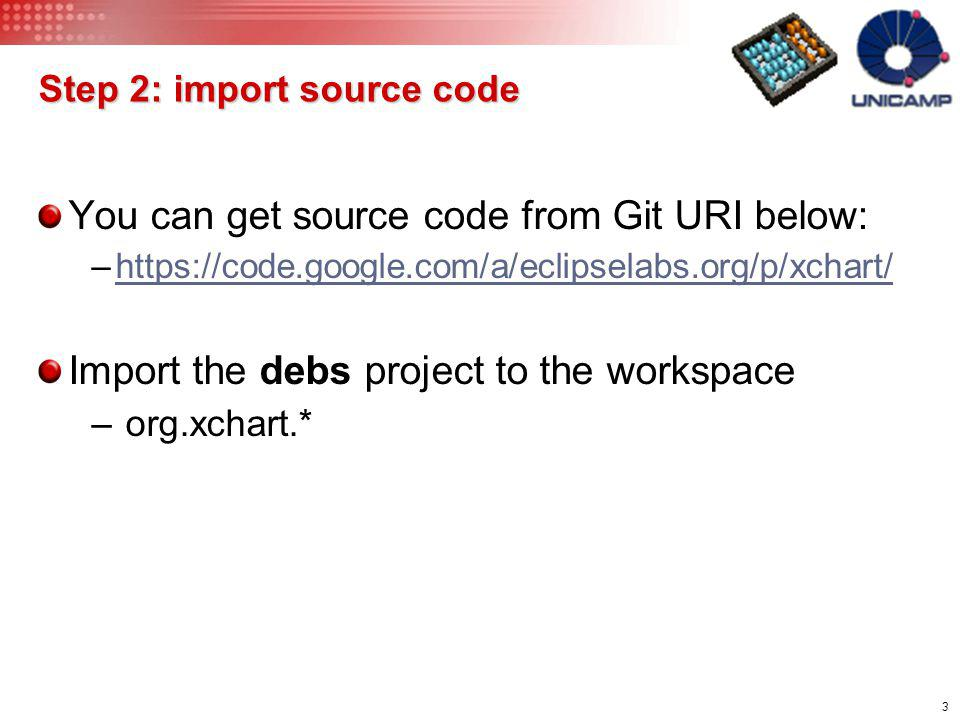 Step 2: import source code