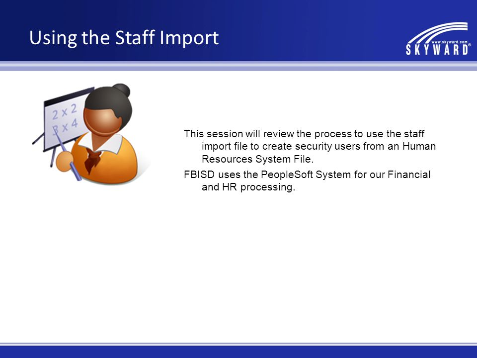 Using the Staff Import