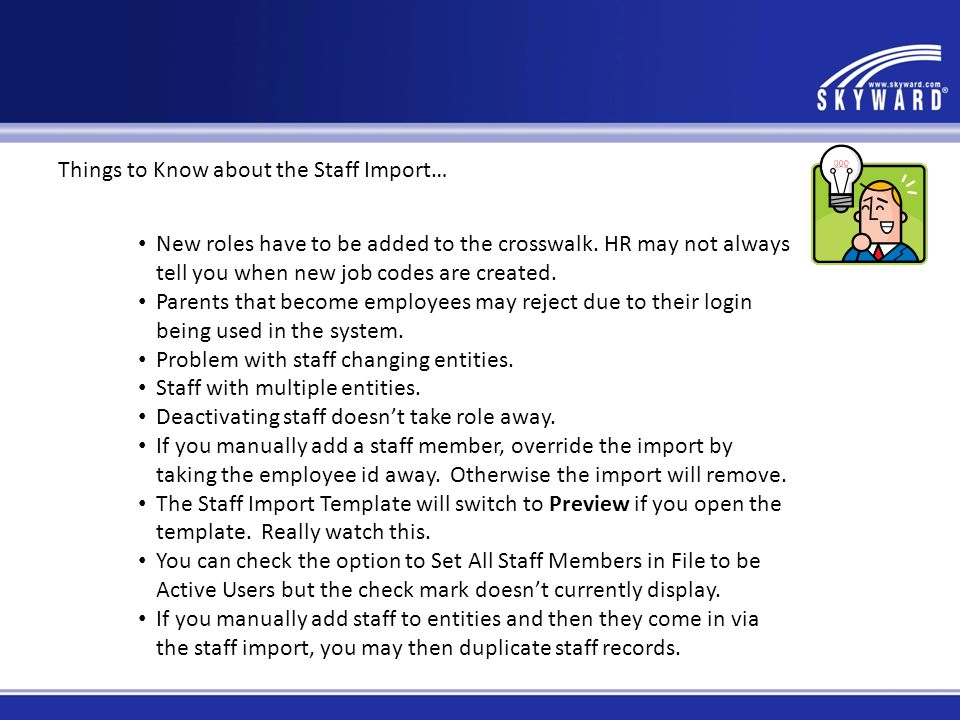Things to Know about the Staff Import…