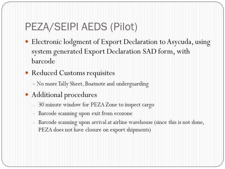 PEZA/SEIPI AEDS (Pilot)