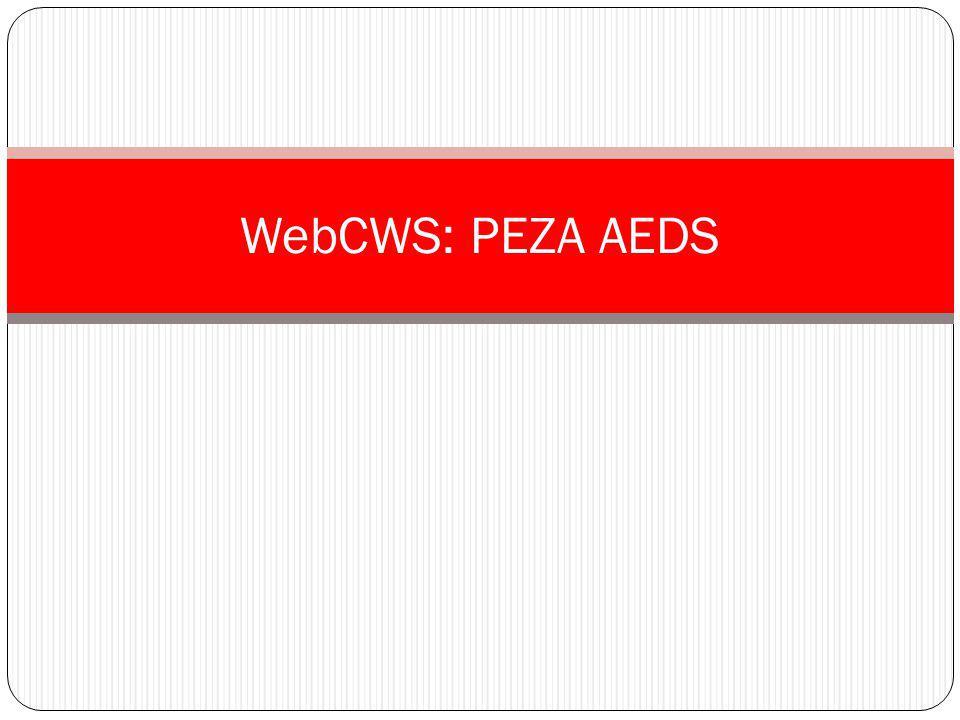 WebCWS: PEZA AEDS