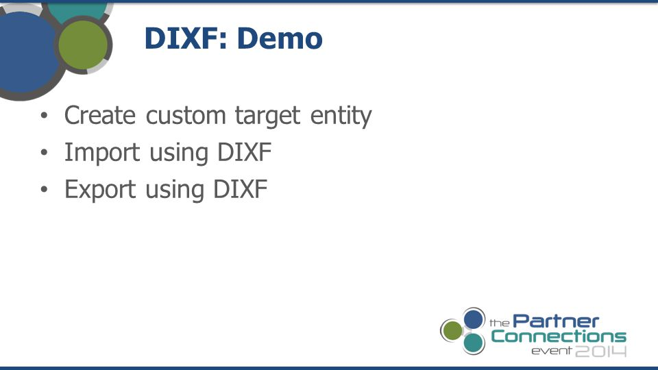 DIXF: Demo Create custom target entity Import using DIXF