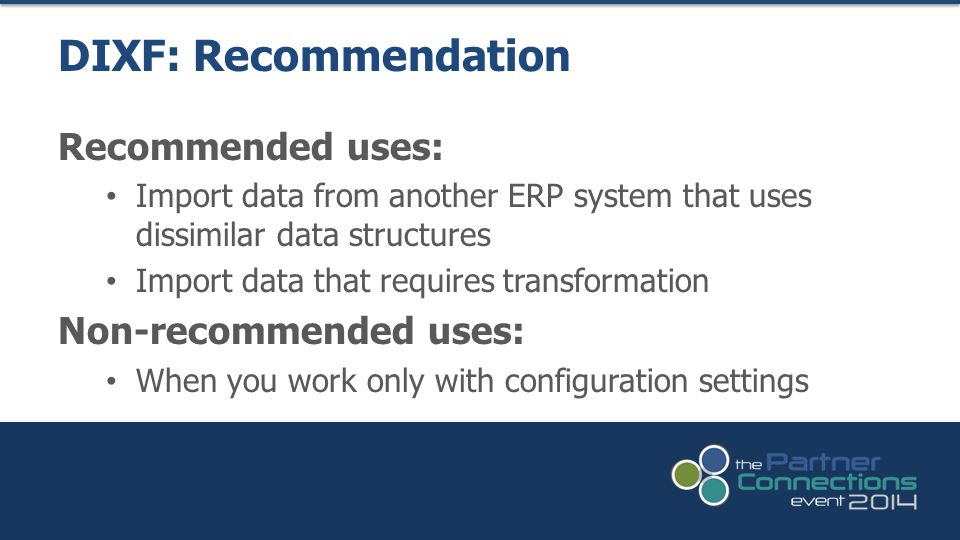 DIXF: Recommendation Recommended uses: Non-recommended uses: