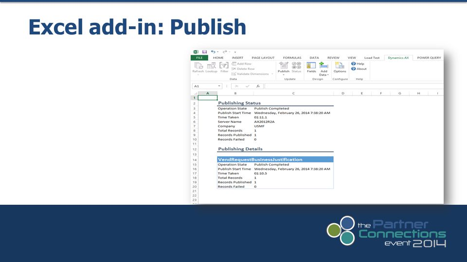 Excel add-in: Publish