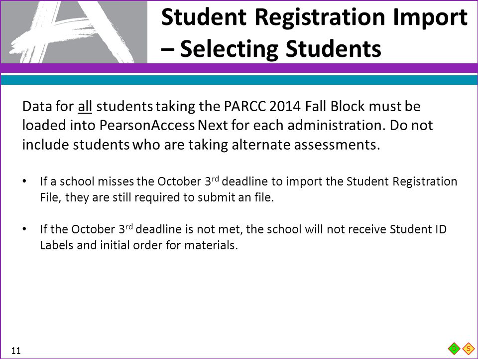 Student Registration Import – Selecting Students