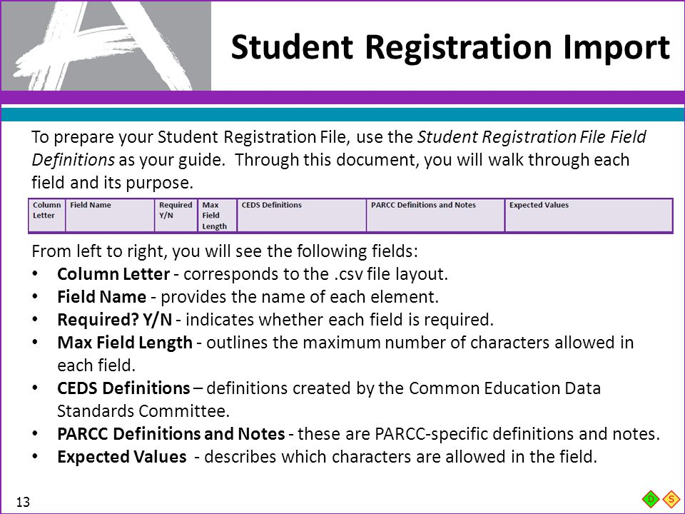 Student Registration Import