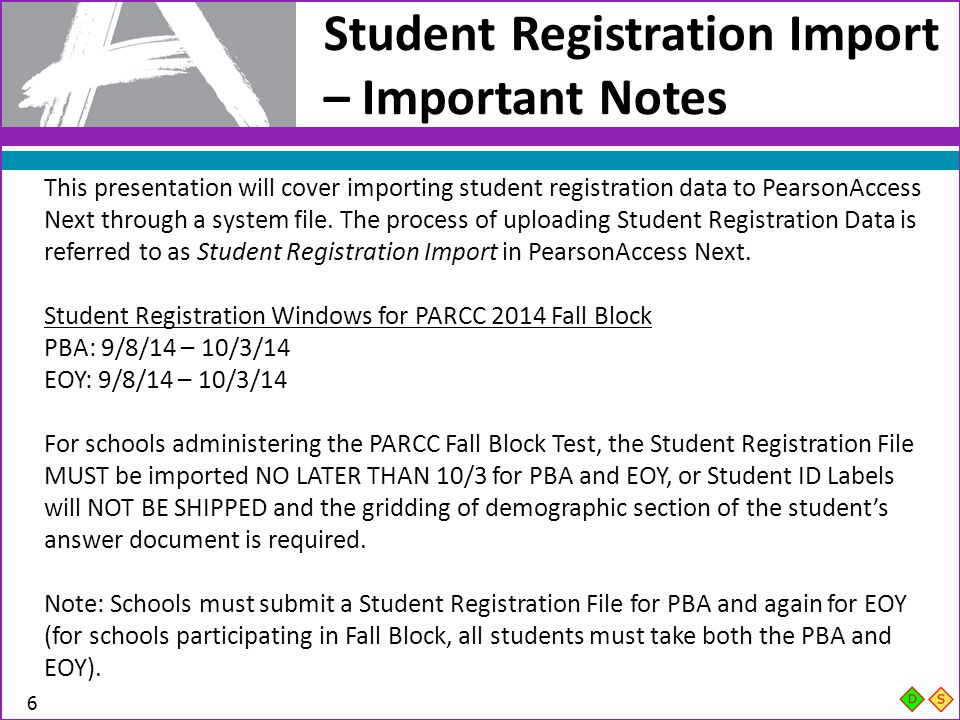 Student Registration Import – Important Notes