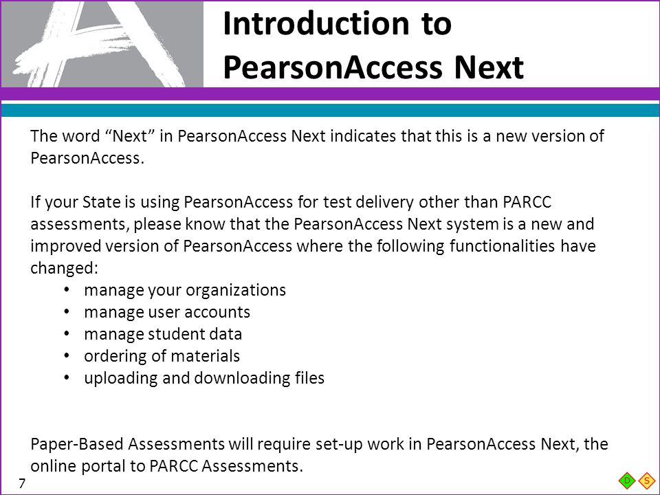 Introduction to PearsonAccess Next