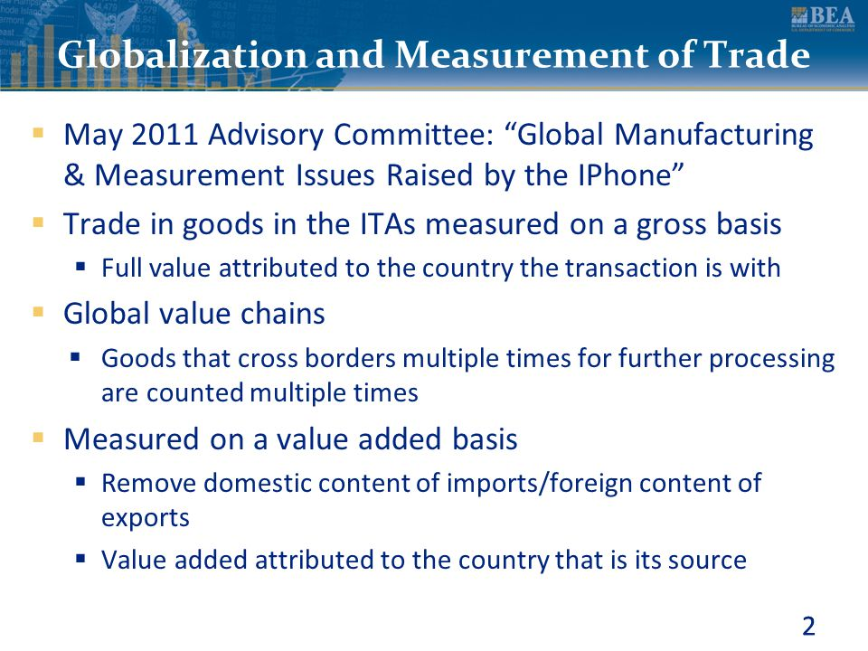 Globalization and Measurement of Trade