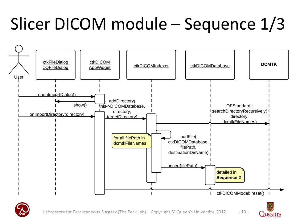 Slicer DICOM module – Sequence 1/3