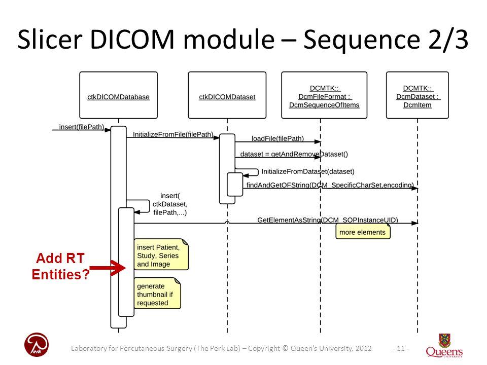 Slicer DICOM module – Sequence 2/3