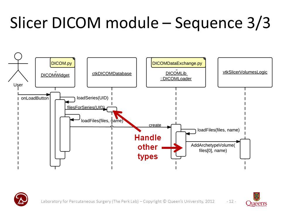 Slicer DICOM module – Sequence 3/3