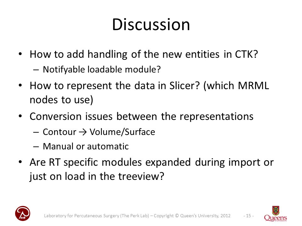 Discussion How to add handling of the new entities in CTK