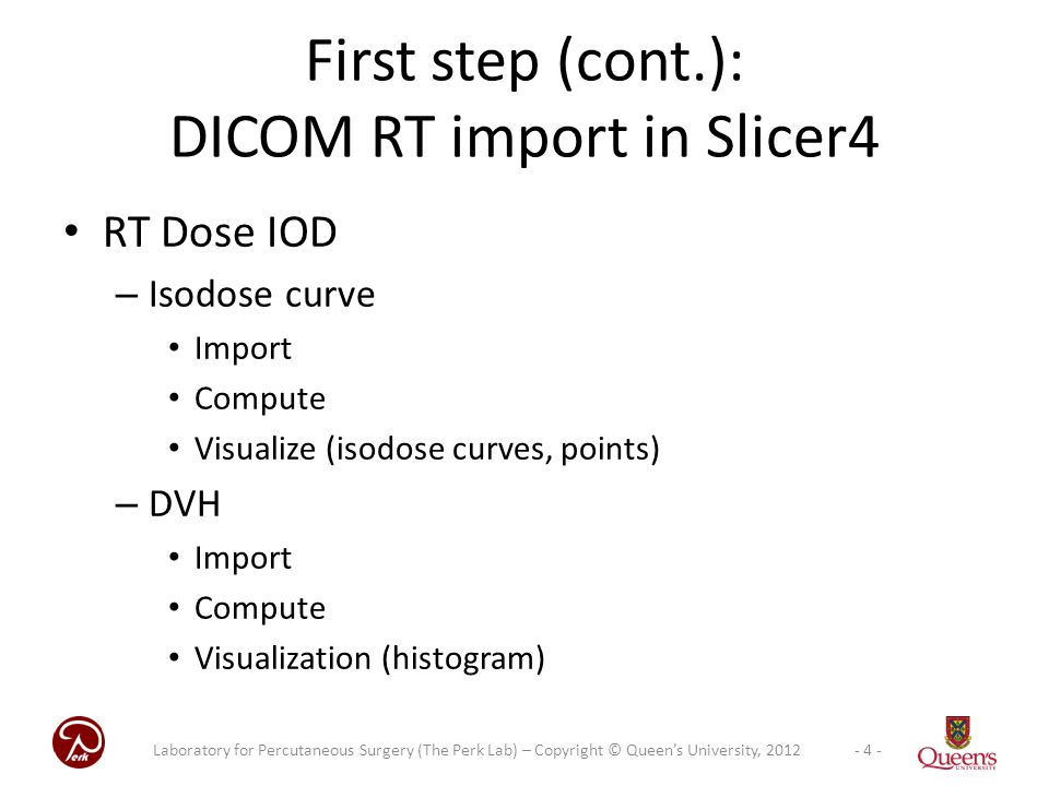 First step (cont.): DICOM RT import in Slicer4