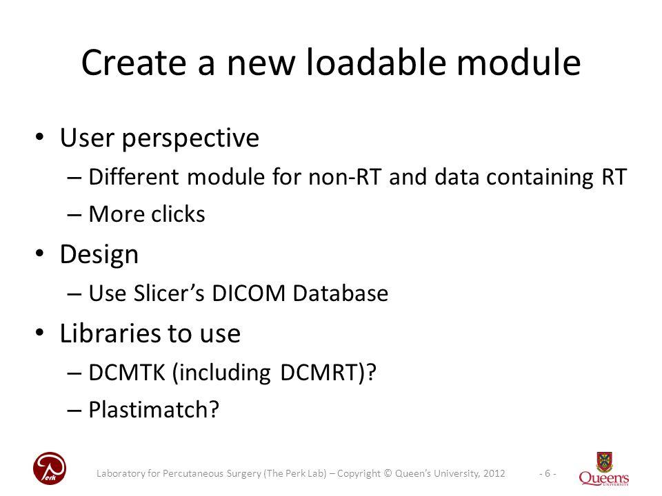 Create a new loadable module