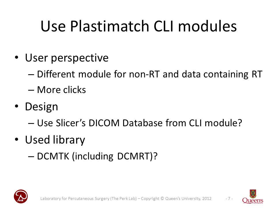 Use Plastimatch CLI modules