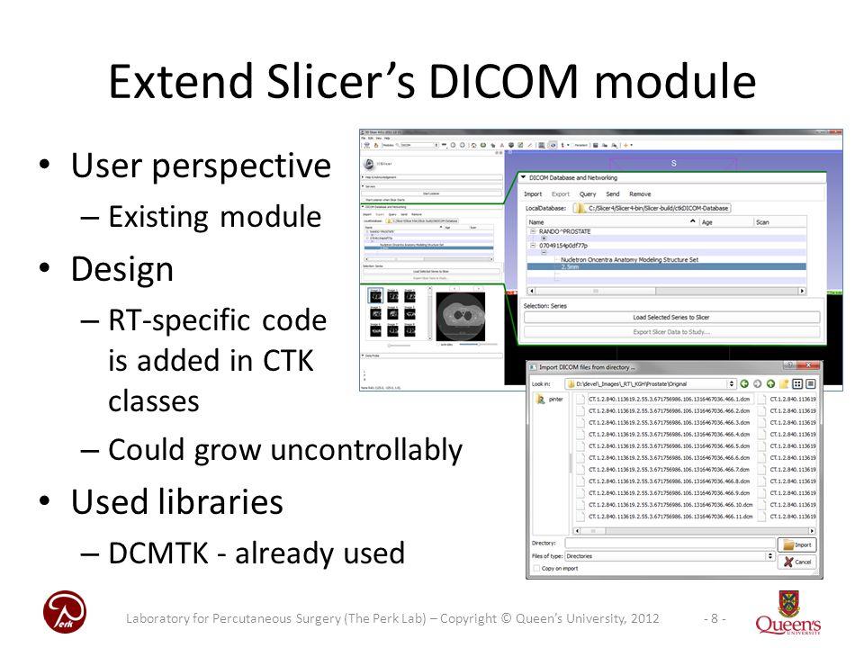 Extend Slicer's DICOM module