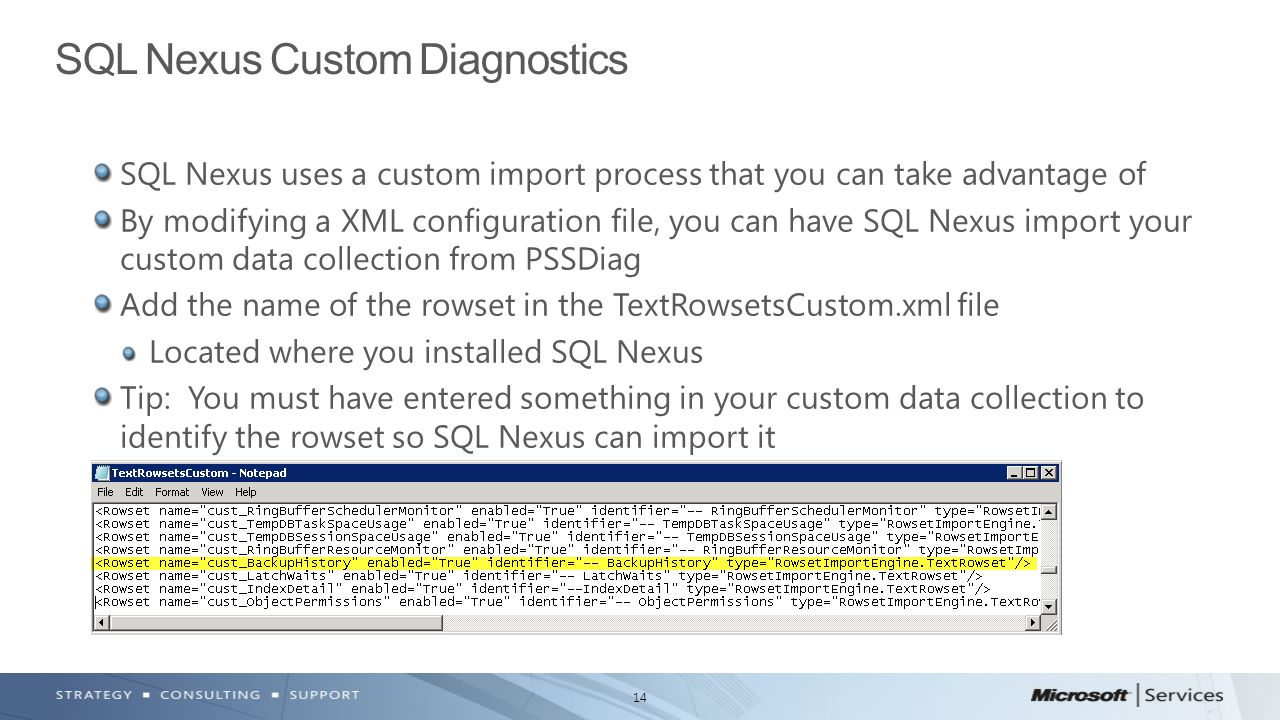 SQL Nexus Custom Diagnostics