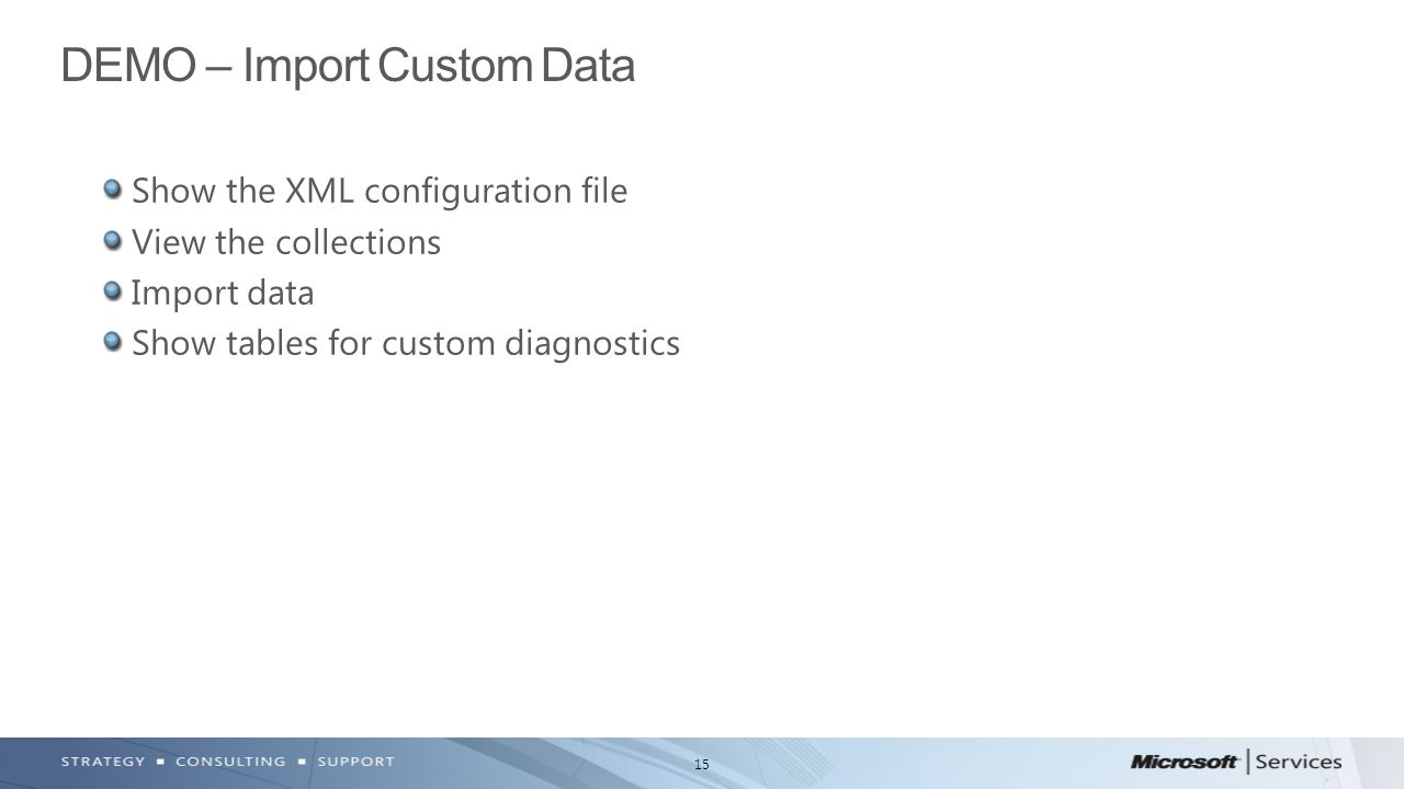 DEMO – Import Custom Data