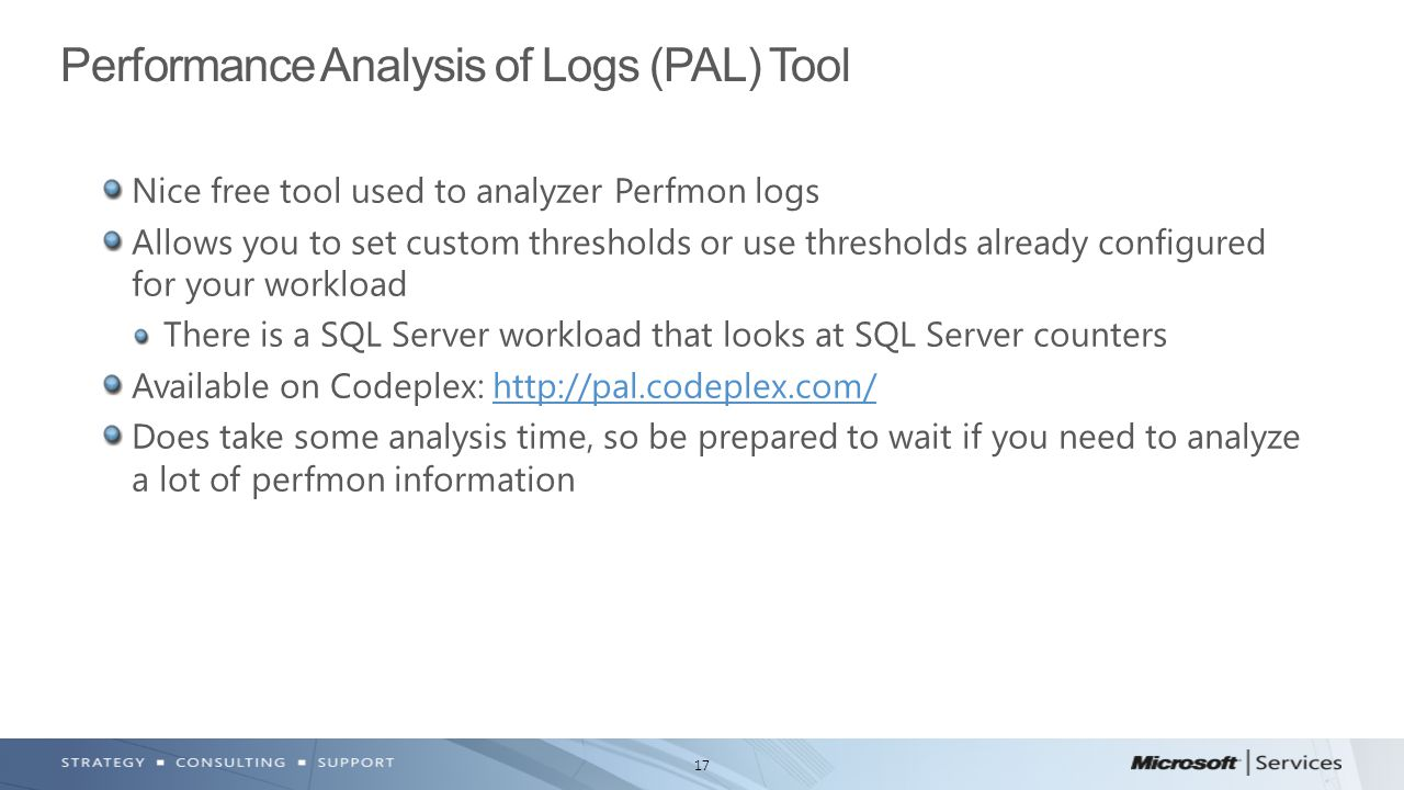 Performance Analysis of Logs (PAL) Tool